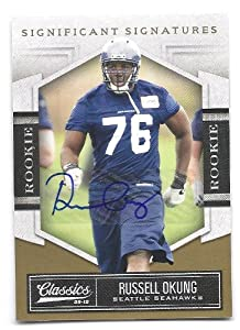 RUSSELL OKUNG 2010 Classics #184 Significant Signatures Gold Parallel AUTOGRAPH RC... by Classics