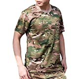 (ガンフリーク) GUN FREAK 迷彩柄 半袖 Tシャツ タクティカル ストレッチ メッシュ サバゲー ( マルチカム 迷彩 , 3XL )