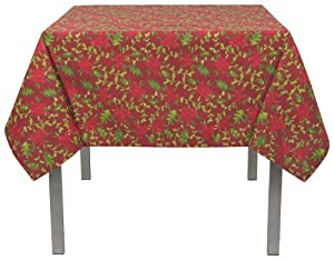 Now designs tablecloth 60 by 108 inch berry merry print for Table th ou tr