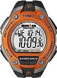 Timex Men's T5K529  Ironman Traditional Black and Orange 30-Lap Sport Watch