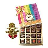 Chocholik Belgium Chocolates - Decadent Truffle And Chocolate Collection Gift Box With Ganesha Idol - Diwali Gifts