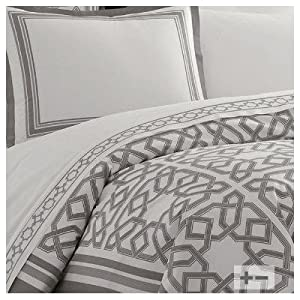 Jonathan Adler Parish Duvet Cover, Grey, King