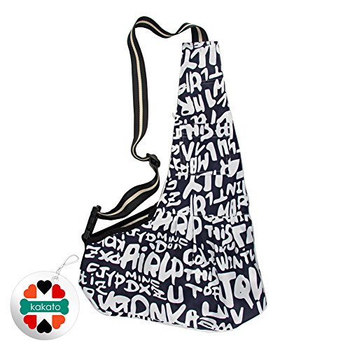 New Pet Sling-style carrier Dog Cat sling Bag -Black and White Printing Small Size