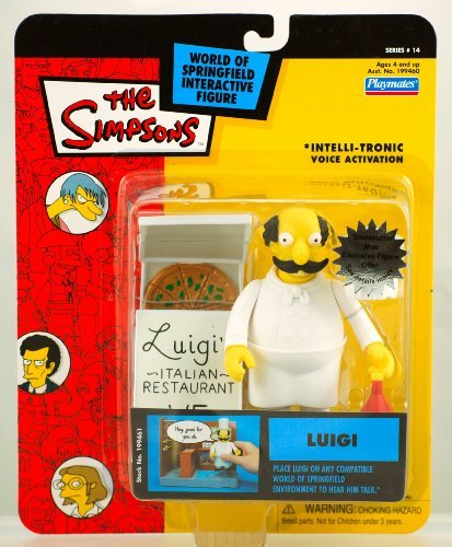 Simpsons Playmates Series 14 Carded Luigi