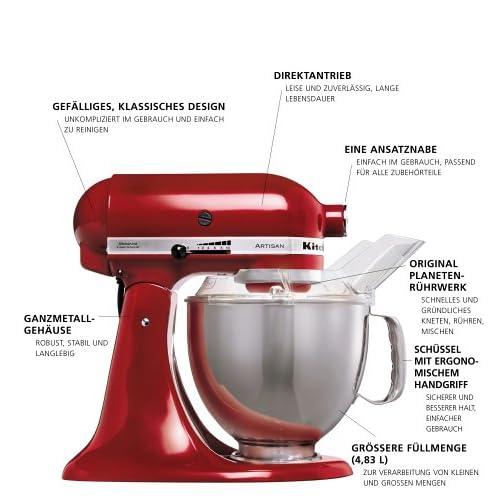 KitchenAid Küchenmaschine Artisan rot 5KSM150PSEER