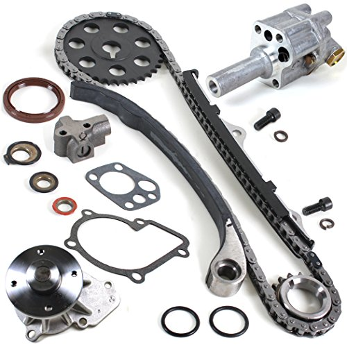 NEW TK10090WPOP Timing Chain Kit, Water Pump Set, & Oil Pump for 90-97 Nissan D21 Pickup 2.4L KA24E (92 Nissan Hardbody Parts compare prices)