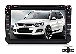 See Pumpkin 8 inch Android 4.4 Kitkat For VW Jetta/Golf Double Din In Dash HD Capacitive Touch Screen Car DVD Player GPS Navigation Stereo Support Bluetooth/SD/USB/Ipod/FM/AM Radio/OBD2/DVR/3G/AV-IN/1080P with Backup Camera as gift Details