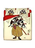 JAPAN MANIA by MANIFATTURE COTONIERE Juego De Funda Nórdica Ronin (Beige/Multicolor)