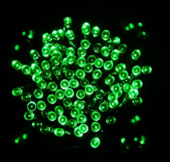 Green solar fairy lights