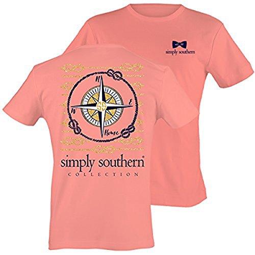 Simply Southern Women's Preppy Compass Melon XL (Southern Shirt Company Xl compare prices)