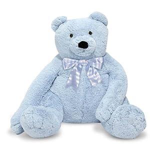 Melissa Doug Jumbo Blue Teddy Bear - Plush from Melissa & Doug