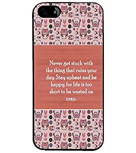 PrintDhaba Quote D-3175 Back Case Cover for APPLE IPHONE 5S (Multi-Coloured)