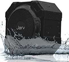 Jarv X96 Rugged Indoor / Outdoor 5 Watt Bluetooth Portable Speaker with X BASS Passive Sub, IPX5 Rated Water Resistance, Shockproof and Dustproof , with up to 5 hours of Play time - Black
