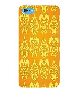 Fuson 3D Printed Floral Pattern Designer Back Case Cover for Apple iPhone 5C - D1034