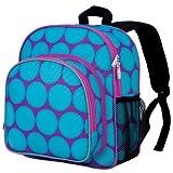 Wildkin Big Dots Aqua Pack 'n Snack Backpack