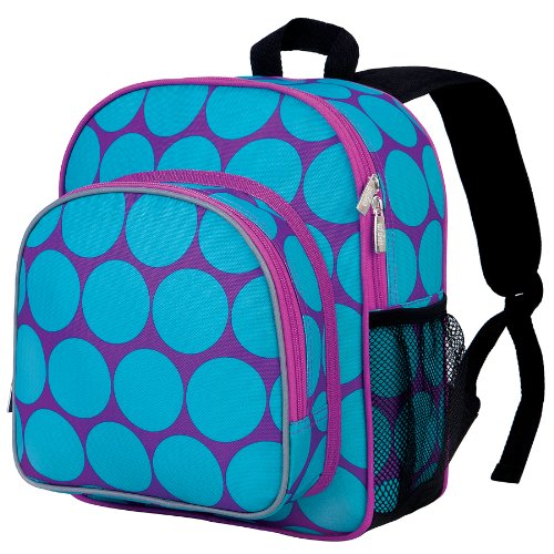 Wildkin Big Dots Aqua Pack 'n Snack Backpack