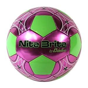 Baden Nite Brite Glow in the Dark Soccerball Pink/Glow