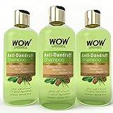 WOW Organics Anti Dandruff Shampoo, 3x300ml