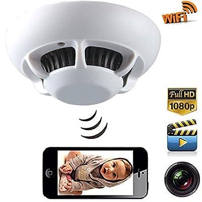 DareTang P2P Smoke Detector Wifi Pinhole Hidden Wireless IP Camera DVR Digital Video Recorder Cam, 1080p