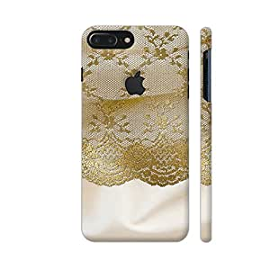 Colorpur Vintage Shabby Chic Gold Lace On Cream Silk Designer Mobile Phone Case Back Cover For Apple iPhone 7 plus with hole for logo   Artist: UtART