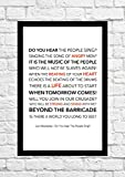 Les Miserables 'Do You Hear The People Sing' Lyrical Song Art Poster - Unframed Print