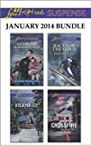 img - for Love Inspired Suspense January 2014 Bundle: Safe by the Marshal's Side\Frame-Up\Race for the Gold\Crossfire book / textbook / text book