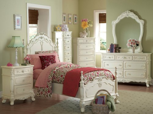 Cinderella 4 Pc Twin Bedroom Set By Home Elegance In Off-White/Cream front-837836