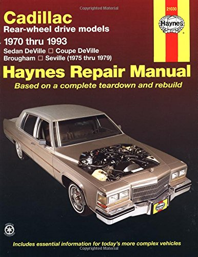 Cadillac Rear Wheel Drive Automotive Repair Manual: 1970-1993 (Haynes Manuals) front-326726