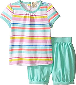 Kate Spade York Kids Baby Girl's Cape Tee and Shorts Set (Infant) Cape Stripe/Fresh Mint Set 6 Months by Kate Spade New York Kids