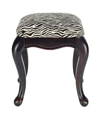 Safavieh Rebecca Stool, Black/Zebra