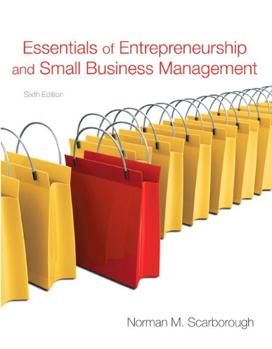 Essentials of Entrepreneurship and Small Business...