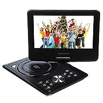 270 degree Swivel Portable DVD Player LCD Screen Display Game USB TV SD SWIVEL & Flip VAG CD VCD MP3 MP4 USB Home Theater by Bravolink (9.5 inch (NS969B))
