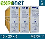 M1-1056 GENUINE 16x25x5 (Actual Size: 15-3/8 X 25-1/2 X 5-1/4) MERV 11 GOODMAN, ELECTRO-AIR, FIVE SEASONS, CARRIER 16X25 MEDIA FILTERS (PRICE INCLUDES SALES TAX)