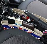 BMW MINI ミニ ユニオン ジャック シート 隙間 収納 ポケット PU レザー 調 ユニオンジャック 2個セット