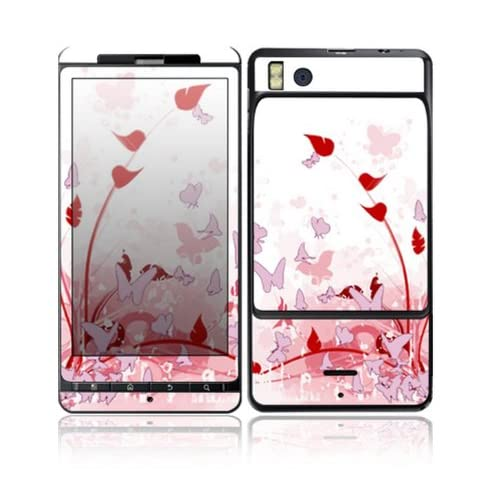 Pink Butterfly Fantasy Design Decorative Skin Cover Decal Sticker for Motorola Droid X2 Cell Phone