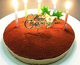 クリスマスケーキ 2015限定 生チョコレートレアチーズケーキ 【ローソク・Xmasプレート・手紙・無料】
