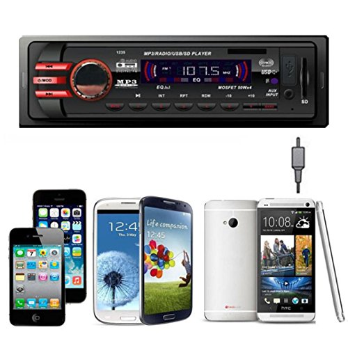 Iuhan® New Car Audio Stereo In Dash FM With Mp3 Player USB SD Input AUX Receiver 1235 (Car Digital Media Player compare prices)