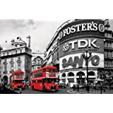1art1 49091 London - Rote Busse, Piccadilly Circus Poster 91 x 61 cm