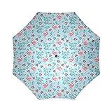 Wolf Anton Flamingo Custom Foldable Waterproof Fabric Travel Umbrellas