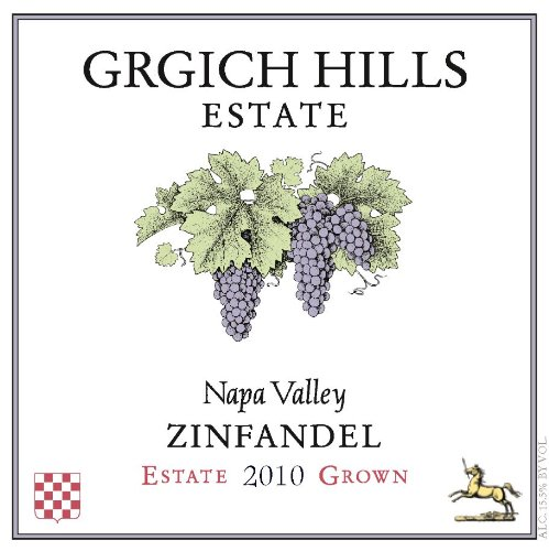 2010 Grgich Hills Estate Napa Valley Zinfandel 750 Ml