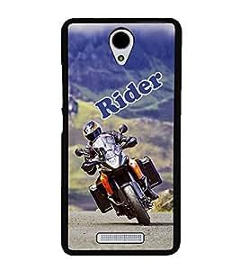 Bike Rider 2D Hard Polycarbonate Designer Back Case Cover for Xiaomi Redmi Note 2 :: Redmi Note 2 Prime
