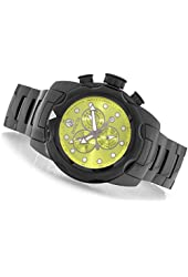 New Mens Invicta 16266 Chronograph Yellow Dial Black Ceramic Bracelet Watch