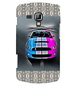 Fuson 3D Printed Car Designer back case cover for Samsung Galaxy S Duos S7562 - D4144