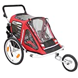Red Loon Child Bike Trailer Jogger RB10001 ultra light aluminium up to 2 children