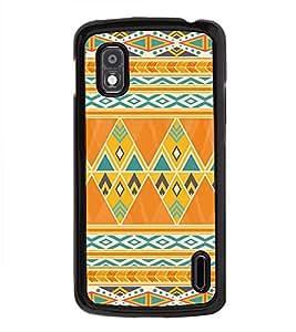 iFasho Animated Pattern colrful tribal design Back Case Cover for LG Google Nexus 4