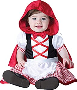 InCharacter Costumes Baby Girls' Little Red Riding Hood Costume, Red/White, X-Small