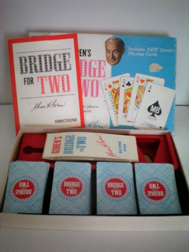 VINTAGE Goren's Bridge for Two -- for casual Bridge players...as well as experts -- Milton Bradley Company -- 1964 -- complete as shown - 1