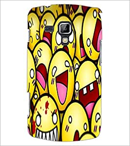 PrintDhaba Smileies D-5602 Back Case Cover for SAMSUNG GALAXY S DUOS 2 S7582 (Multi-Coloured)