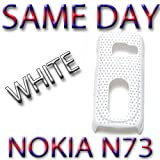 BRAND NEW HYBRID PLASTIC BACK COVER NOKIA N73 WHITE UK