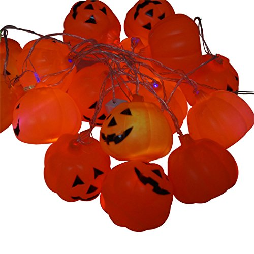 [Sun Lorence Halloween Pumpkin LED String Lights For Home Holiday D¨¦cor A] (Grape Vine Halloween Costume)
